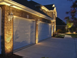 Lighted Garage